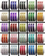 Indian Bollywood Trendy Plain Color Bangle bracelet set of 18 Bangles Jewelry
