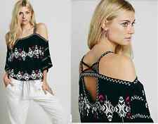 FREE PEOPLE Sz S+M+L ' South By ' Embroidered Top New Tags 966-969-974