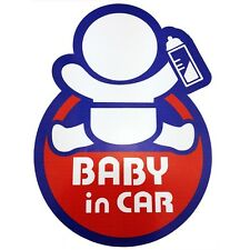 "Sticker Decal for Auto Car Truck Warning Safety Sign ""BABY in Car"""