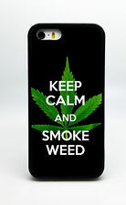 NEW KEEP CALM AND SMOKE WEED PHONE CASE COVER FOR IPHONE 7 6S 6 PLUS 5 5S 5C 4S