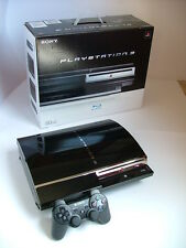 PLAYSTATION 3 PS3 FAT 60GB CON SCATOLA + CONTROLLER + FIRMWARE ORIG 3.50 + LENTE