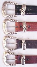 Lucchese Exotic Skin Belts,Horn Back Crocodile & American Alligator, (34 & 40)