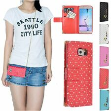 Fashion Card Cash Wallet Strap Hanging Star Case Cover For Samsung Galaxy S6
