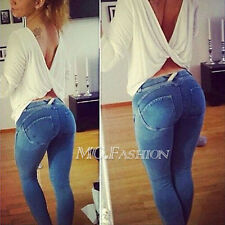 2015 Vintage Womens Slim Low-waist Sexy Pencil Candy Color Slim Pants Leggings