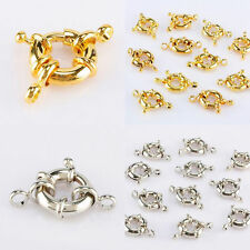 Silver/Gold 18 KGP Round Clasp Bail Connector Crafts Makings Findings Jewelry