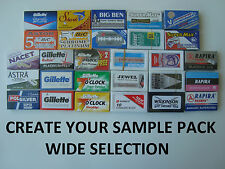 Create your mixed sample pack Double Edge Safety DE Razor Blades