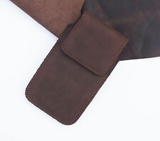 Real Genuine Leather HandMade Cell Phone Cover Case Pouch Range of Models+gratis