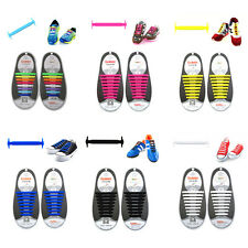 Unisex No Tie Elastic Silicone Shoelaces Canvas/Casual/Athletic/Sports Shoe Lace