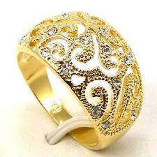 Size 6,7,8,9 RING,REAL POSH 18K YELLOW GOLD GP EMPAISTIC GEMSTONE SOLID FILL GEP