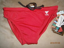 NWT MENS & BOYS TYR SOLID RACER RED SWIMSUIT RETAIL $25.00 SIZES 24, 26 & 28