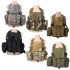 Tactical Airsoft Assault Vest Chest Webbing Carrier Molle Pouch Military Hunting