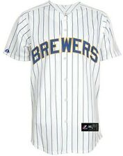 Milwaukee Brewers MLB Majestic Mens Pinstripe Replica Jersey Big & Tall Sizes