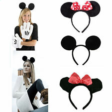 Mouse Ears Minnie Bow Headpiece Headband Head Band Adult Child Girls Fancy Dress
