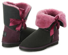 Bow Short Fashion Ugg Boots 100% Premium Australian Sheepskin