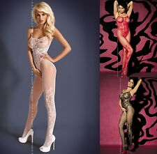 sexy Catsuit Bodystocking Crotchless Open crotch Net Overalls Erotic lingerie