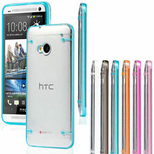 Ultra Thin Transparent Clear Soft Gel Skin Hard Case Cover For HTC ONE M7 M8 M9
