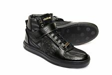 Roberto Cavalli Men's 04155 Sneaker Combined with Patent Leather & Zebra Fabric