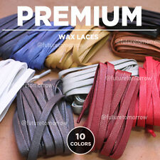 60in - PREMIUM FLAT WAX - shoelaces - 10 colors - Common Projects, MCQ, Versace