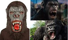 Fancy Dress Gorilla Latex Mask Horror Evil Monkey Planet of Apes Halloween Real
