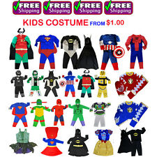 NEW SIZE 2~12 KIDS COSTUMES BIRTHDAY PARTY SUPERHERO GIRLS BOYS OUTFIT CHILDREN