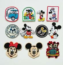 Mickey Minnie Mouse Motif Applique Embroidered Iron On Patch Sew Accessories