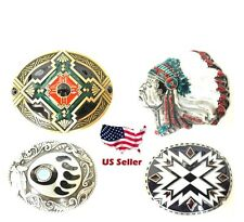 Native Indian American style Western Chief Aztec Mayan Belt Buckle Brand New