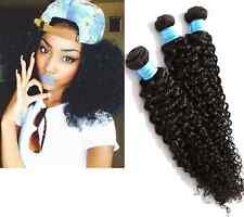 "Human Hair Extension 100% Peruvian Curly 8""-30""Unprocessed 50G Natural black 1pc"