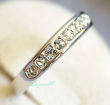 18K White Gold GP Silver Austrian Crystal Thumb Pinky Ring Wedding Stackable