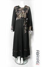 Golden Brocade Abaya from dubai, black abaya, jilbab,maxi dress occassion wear