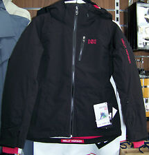 Helly Hansen Belle Jacket Ski Jacket Black With Pink Trim RRP £300 My Price £60