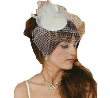 Vintage insfired Fascinator Birdcage veil Blusher veil  Tear drop hat Fascinator