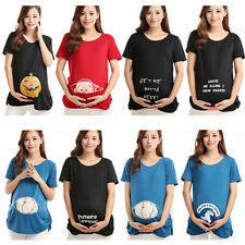 For Pregnant Women Funny Printed Maternity Tops T-shirt Pregnancy T-shirts  A62