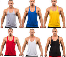 New Men Gym Muscle Training Bodybuilding Tank Top Workout Fitness Vest Shirt