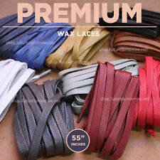 55in - PREMIUM FLAT WAX - shoelaces - 10 colors - Y-3, Common Projects, Feit +