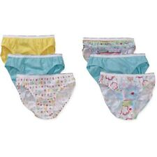 NEW Hanes 6 or 12 Pack Girls Cotton Underwear-Bikinis-Size 16 - Assorted Colors
