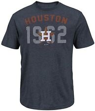 Houston Astros MLB Majestic 3 Base Hit Mens Navy Heather Shirt Big & Tall Sizes
