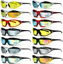 [XLINE] 704 Mirrored Sports Sunglasses CYCLING Outdoor Night Yellow Lens