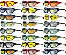 [XLINE] 702 Mirrored Sports Sunglasses CYCLING Outdoor Night Yellow Lens
