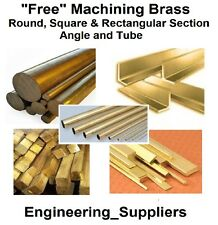 METAL brass round square flat bar / rod, fils, angle & tube 100mm à 600 mm de long