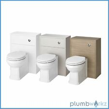 Traditional Back to Wall BTW WC Pan Toilet Concealed Cistern & Soft Close Seat