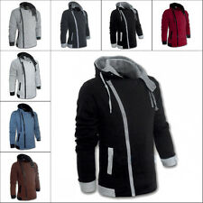 Stylish New Men's Casual Zip Hoodies Long Sleeve Slim Coat Jacket M-6XL Outwear