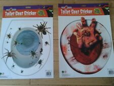 Halloween spiders or bloody hand toilet seat cover