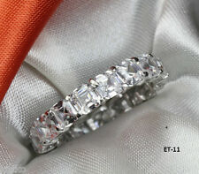 ASSCHER CUT ETERNITY ENGAGEMENT RING WEDDING RING ANNIVERSARY BAND~6.6 CTW~ET11H