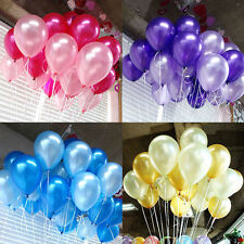 """50PC LATEX BALLOONS 12"""" PARTY BIRTHDAY WEDDING HELIUM AIR COLOURS DECORATION"""