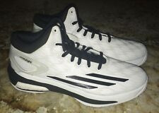 NEW Mens 8.5 ADIDAS Crazy Light Boost White Black Basketball Shoes Sneakers