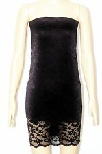 SEXY WOMEN LADIES BLACK FLORAL LACE BOOBTUBE DRESS TOP SIZE 6,8-10,12-14