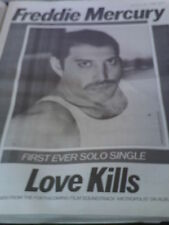 # FREDDIE MERCURY / QUEEN - LOVE KILLS original magazine advert small poster