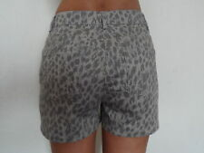 WOMANSLADIES ANIMAL LEOPARD PRINT 98%COTTON RICH SHORTMID LENGTH FASHION SHORTS