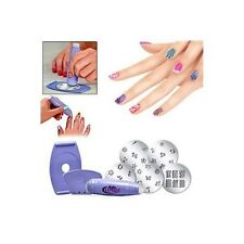 Great Nail Art Stamping Stamper Kit with Image Plate Scraper Design Salon Tool
