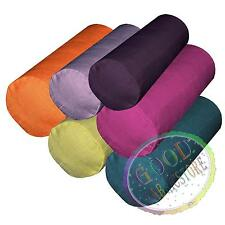 qh+6 Hi​gh Quality Thick Cotton Blend Bolster Yoga Case Neck Roll Custom Size